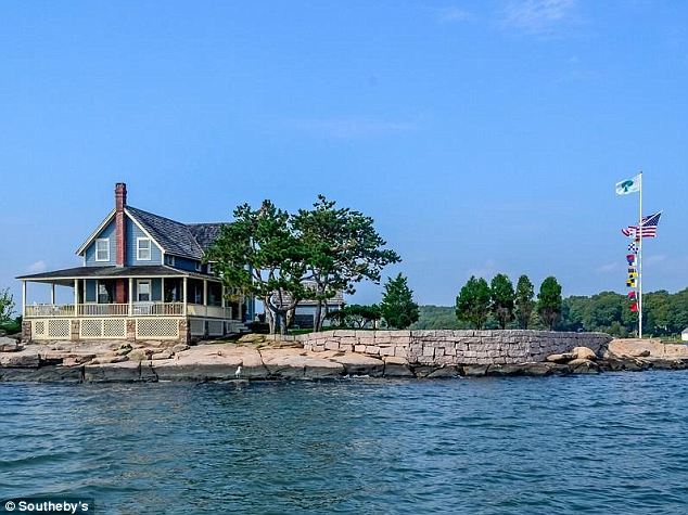 A steal: Belden Island, complete with its 4-bedroom, 100-year-old cottage is on sale for $3.95 million