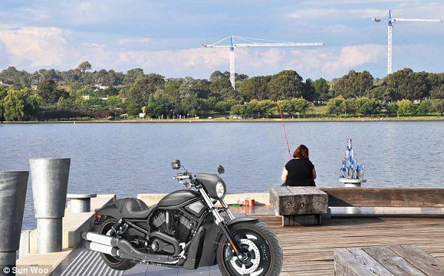 Simple scenes: One inmate had this request: 'My empty chair by a lake with woman and motorcycle.