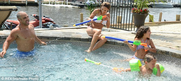 Fun in the sun: The Groga family enjoys their time together