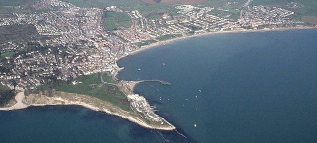 Swanage: His destination is a popular stop-off point for sailors just 20 miles down the coast from his home
