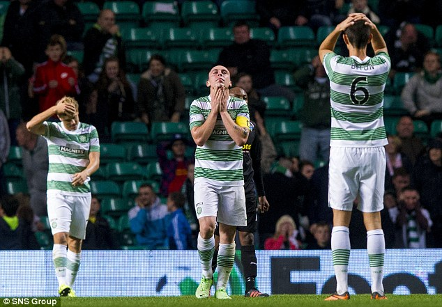 Dismal: Celtic lost to Championship side Morton on an awful night at Parkhead