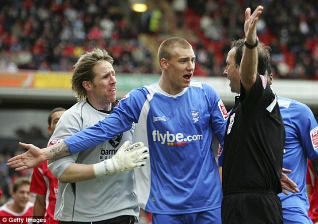 Swapping red for blue: Bendtner first left Arsenal for Birmingham back in 2006