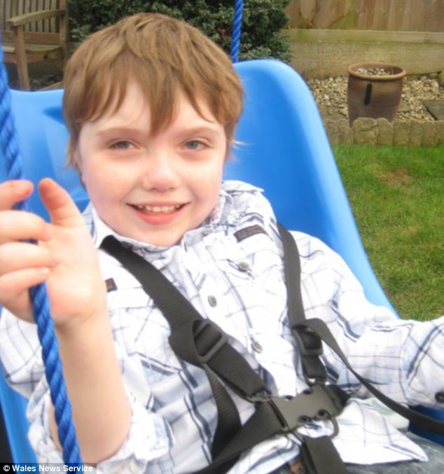 Louis Mushrow, nine, has Smith-Magenis Syndrome - a rare genetic disorder caused by an abnormality in chromosome 17. His parents say the condition means he cries every time he hears stirring music