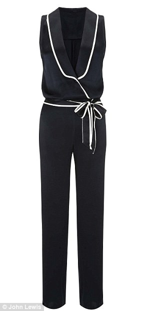 Her favourite: Alice loves the masculine tuxedo jumpsuit (£145)