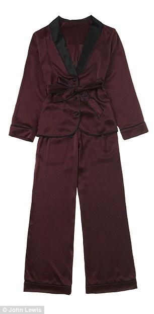 Fusion of styles: The range fuses vintage and oriental influences, Tuxedo pyjama set (£150)