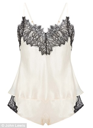 Camis: There is also vintage French boudoir-style camisoles with matching shorts (£65)