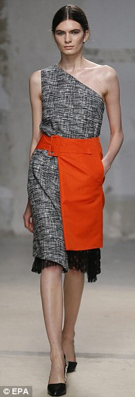 Texture: Doma's delicate fabrics were mixed with tough tweed