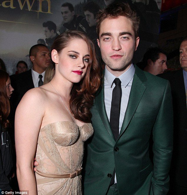 Once upon a time: Robert with Kristen Stewart at the November LA premiere Of The Twilight Saga: Breaking Dawn - Part 2