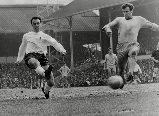 Lethal finisher: Greaves (left) scores for Tottenham against Coventry City in 1968