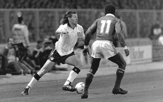 Mullet over: Chris Waddle starred for England, Sheffield Wednesday, Marseille, Spurs and Newcastle