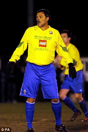 Socrates in action for Garforth Town against Tadcaster in November 2004