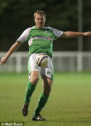 Taking Le Tiss: The former England forward shows his famous first touch in action for Guernsey