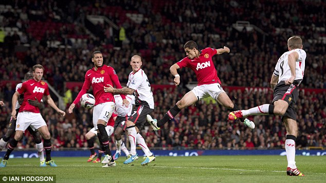 Through: United progressed on Wednesday night with a 1-0 win over Liverpool at Old Trafford