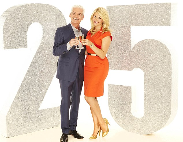 Holly Willoughby and  Phillip Schofield will  celebrate the 25th Birthday of This Morning on Thursday 3rd October with a whole hosts of guests