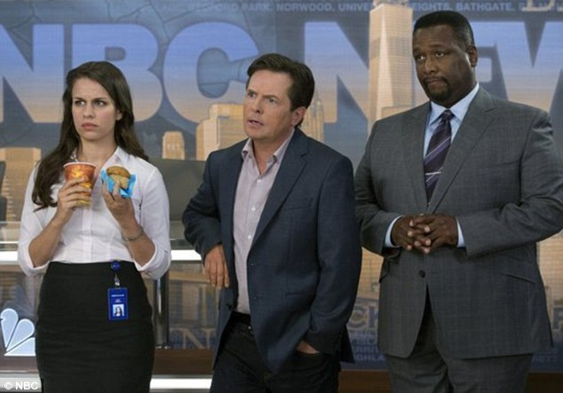 Big return: Staring on NBC on Thursday, the 52-year-old will star as news anchor Mike Henry in the Michael J. Fox Show