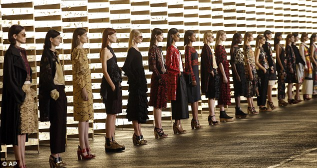 Spectacular: Cerebral Belgian designer Dries van Noten packed a powerful punch with his minimalist palette