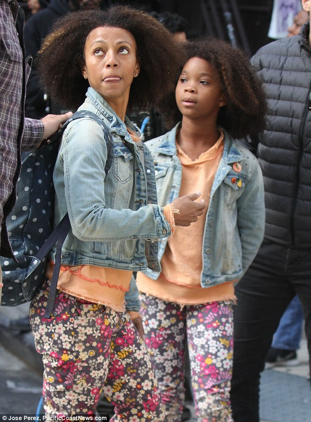 She has one too!: Later in the day Quvenzhane was also joined by a body double