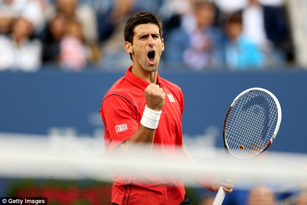 Top of the world: Djokovic has just notched up his 100th week at world No 1