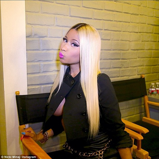 In on the joke? Nicki posted this revealing picture of herself shortly after her appearance on Ellen