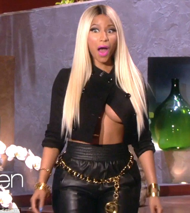 Appropriate for daytime television? Rapper Nicki Minaj left chat show host Ellen DeGeneres shocked and excited with her daring ensemble
