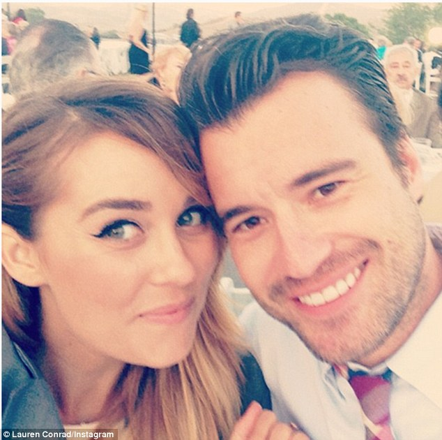'He is very good for me': On Saturday, Lauren donned floral for the Veuve Clicquot Polo Classic at Will Rogers Historic Park alongside her boyfriend William Tell