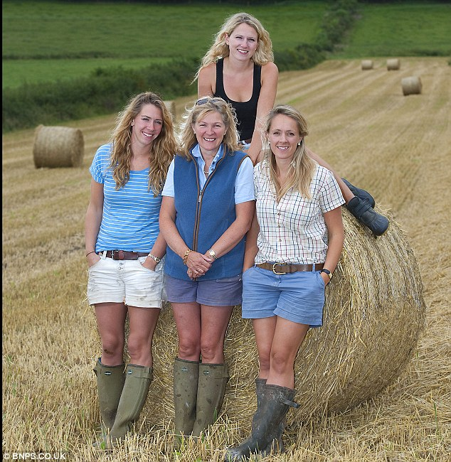 Success story: The four women are pulling up trees in the largely male-dominated farming community by making a success of the one million pound a year business