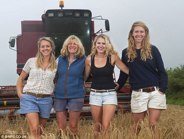 Non-conventional: 'Many people have been very supportive and have given us advice but farms aren't traditionally run by women and some of the traditional farmers see things differently,' they say