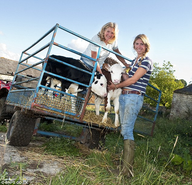 Tough job: 'When I tell people that I am a farmer that don't take it seriously and think I have a hobby farm with a few ponies,' says Carol