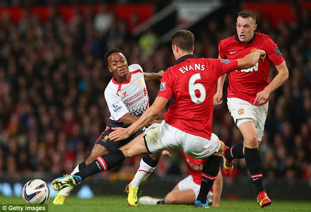 Talent: Teenager Raheem Sterling came off the bench against Manchester United on Wednesday