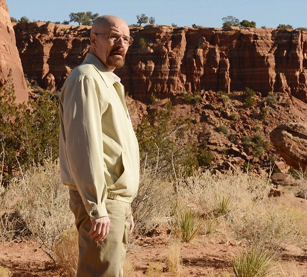 He will be missed: Fans will no doubt miss Bryan Cranston's character Walter White after his fate is decided on Sunday night