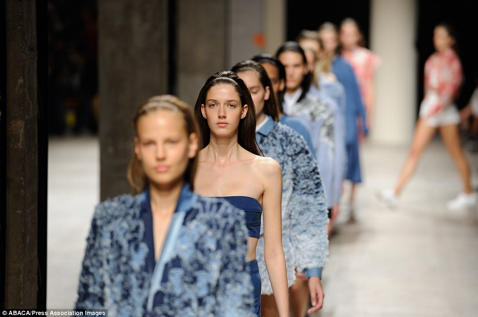 Blue is the colour: But at Barbara Bui, fashion was the game and she demonstrated just how good she is at it with her denim-heavy vision for next summer