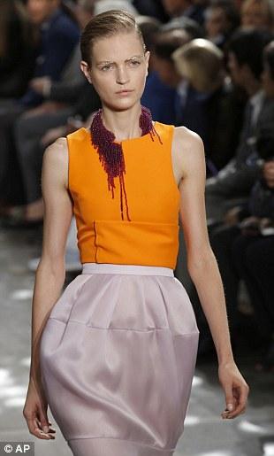 Pumpkin and blush: Pink and orange made a surprisingly good team at Christian Dior