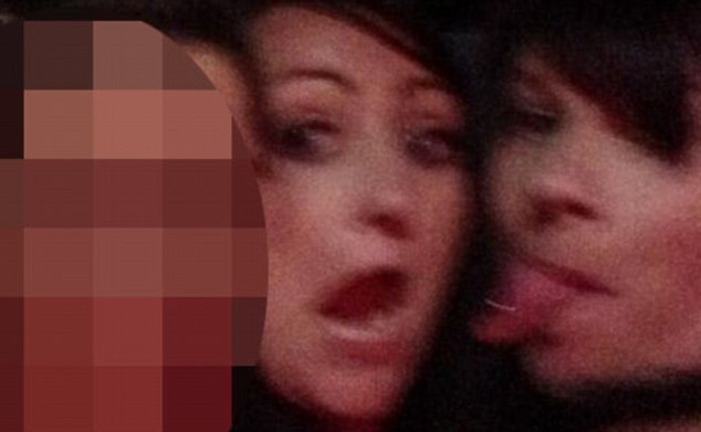 Julie Dyde posted a picture with the comment, 'We're a bit drunk'