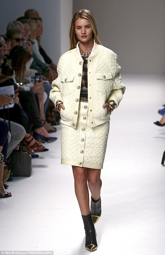 Quilted: The new season collection focused on texture, from quilted jackets and skirts, to beaded and chainmail check
