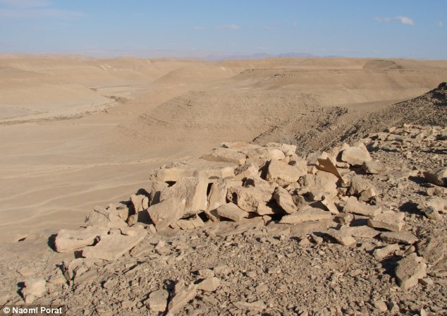 Subtle: The trap, seen here from behind, was found in the Negev desert in Israel