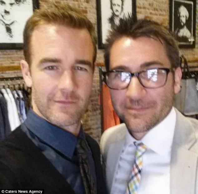 James Van Der Beek, who played Dawson in Dawson's Creek, attended the party
