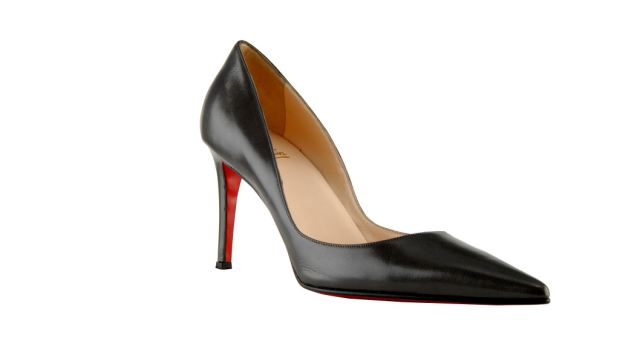 Famous: A pair of the French designer's iconic red-soled shoes