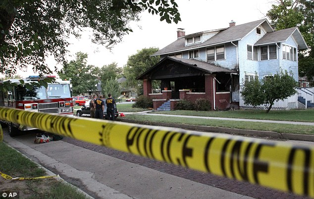 Scene: Sam Vonachen, from Hutchinson, Kansas, was arrested on suspicion of aggravated arson and double murder in the deaths of his mother Karla, 47, and 11-year-old sister Audrey