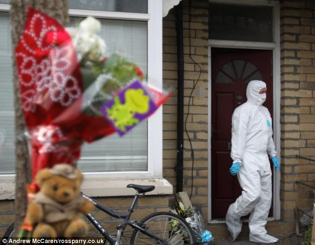 Terrible discovery: Police were called to Hutton's Bradford home and discovered her son, who had been dead for two years