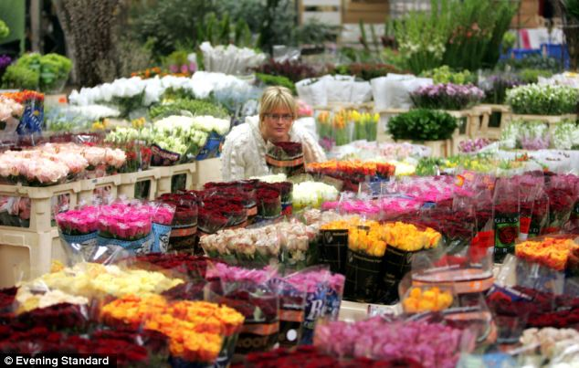 In bloom: Pippa has offered tips on flower arranging in a new column, revealing she heads to Covent Garden Market (pictured) to pick out her favourite flowers
