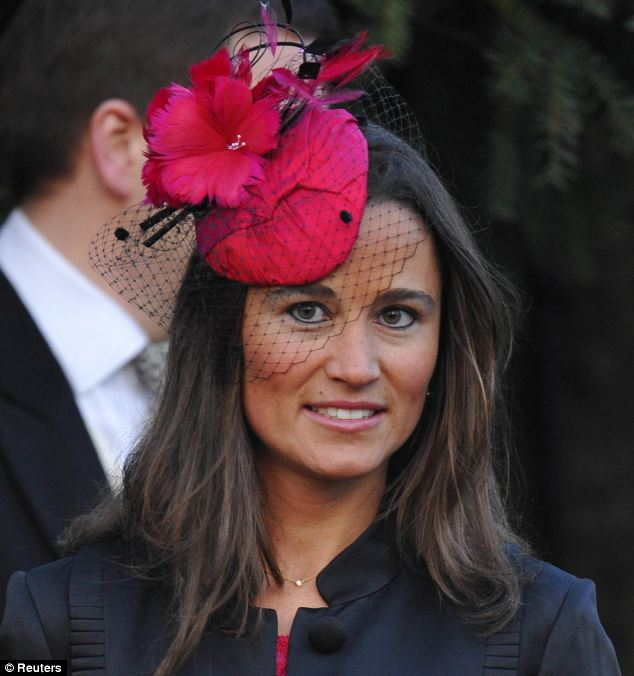 Fragrant: Pippa Middleton extols the virtues of Covent Garden Flower Market, where 'DIY brides' head to pick out homemade bridal bouquets