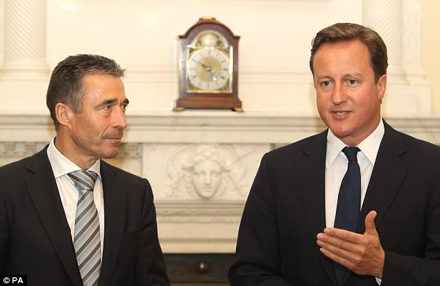 Critical summit: David Cameron, pictured here with Nato Secretary General Anders Fogh Rasmussen, will host next year's Nato summit