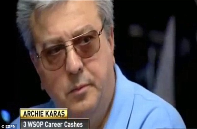 Caught: World-renowned professional poker player Archie Karas, has been arrested on charges of cheating and defrauding a casino after authorities say he was caught marking cards at a California blackjack table