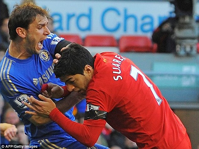 Madness: The 10-match ban came after an altercation with Chelsea's Branislav Ivanovic