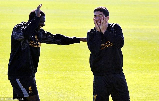 High spirits: Luis Suarez is ready to make his Premier League comeback