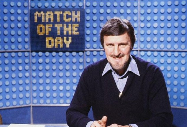 Jimmy Hill presenting the BBC's Match of the Day in 1981 - he racked up 600 appearances on the show