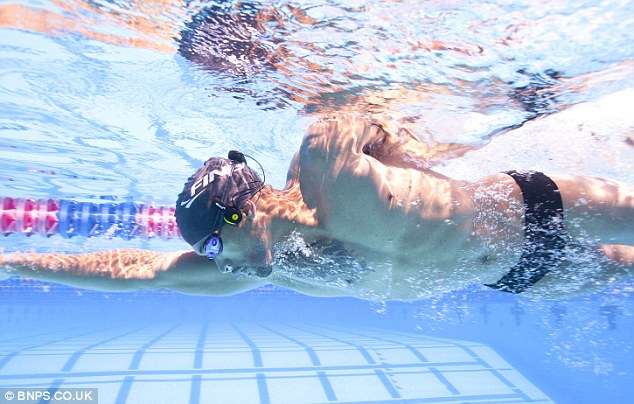 The device has been popular among recreational swimmers who can listen to up to 1,000 songs on the mp3 player which rests on their goggles