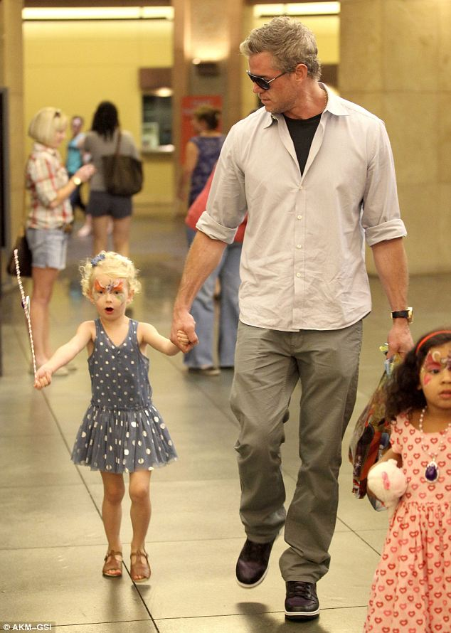Little princess: Eric Dane's daughter Billie wears a cute outfit for a Disney party with her dad
