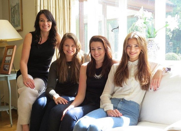 Singer Beverley Craven (L) with daughters Mollie, 21, Brenna, 18, and Connie, 16 - they know their risk of developing breast cancer is very high