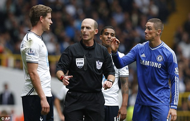 Keep with him: Fernando Torres has been included despite facing a domestic ban following his altercation with Jan Vertonghen on Saturday